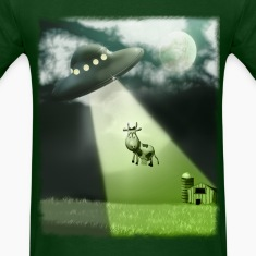 Comical UFO Cow Abduction