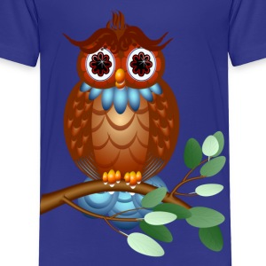 Big Brown Owl - Toddler Premium T-Shirt