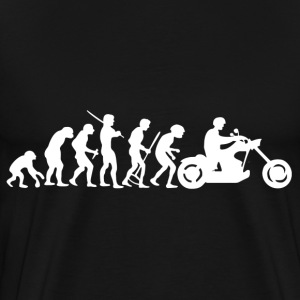 Motorcycle Rider Evolution Chopper Cruiser - Men's Premium T-Shirt