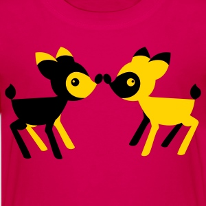 lover little deers noses together opposite Kids' Shirts - Kids' Premium T-Shirt