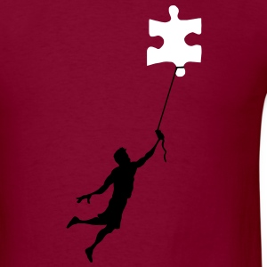 Floating Puzzle - Men's T-Shirt