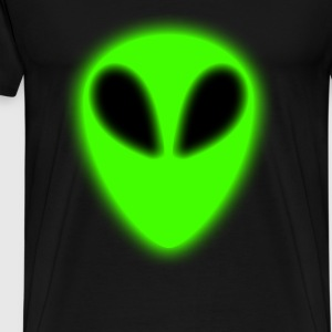 Glowing Green Alien - Men's Premium T-Shirt
