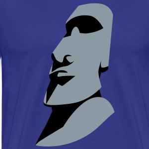 EASTER ISLAND STATUE ROCK alone T-Shirts - Men's Premium T-Shirt