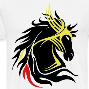 darr tribal horse head 13 T-Shirts - Men's Premium T-Shirt
