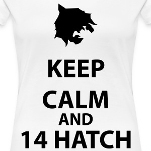 Keep Calm and 14 Hatch Plus Size - Women's Premium T-Shirt