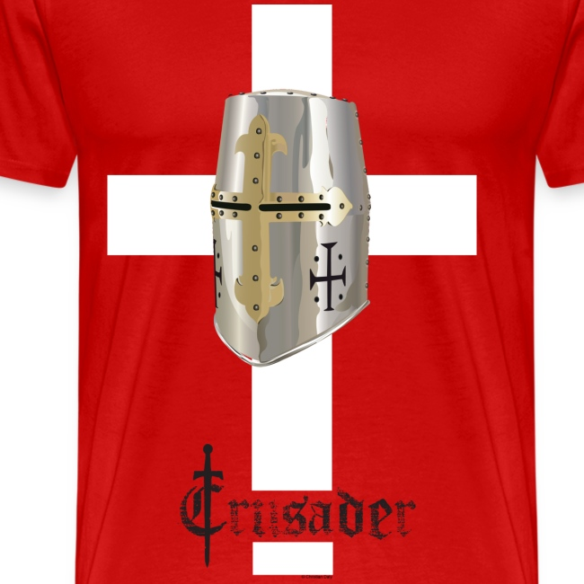 Crusader white on color Heavyweight T