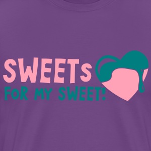 sweets for my sweet with melty love heart T-Shirts - Men's Premium T-Shirt