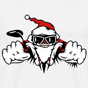 Santa Claus on Motorcycle T-Shirts - Men's Premium T-Shirt