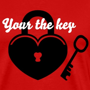 Lock to my Heart 2 T-Shirts - Men's Premium T-Shirt