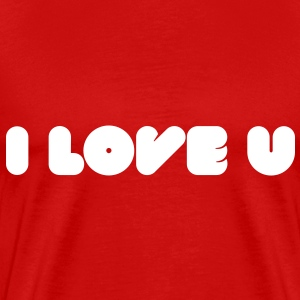 I Love U - Words of love T-Shirts - Men's Premium T-Shirt