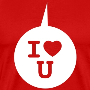 I heart U - Speech bubble 1c T-Shirts - Men's Premium T-Shirt