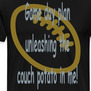 unleashing_the_couch_potato_in_me_game_d T-Shirts - Men's Premium T-Shirt