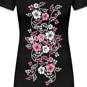hawaii flower Plus Size - Women's Premium T-Shirt