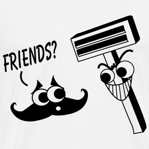 Moustache & Shaver - Friends? T-Shirts - Men's Premium T-Shirt