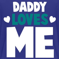 DADDY LOVES ME with little hearts Kids' Shirts