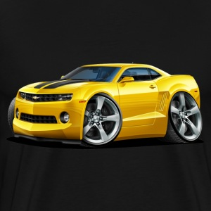 2010-12 Chevy Camaro Yellow-Black Car - Men's Premium T-Shirt