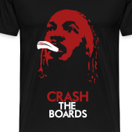Design ~ Black and Red Crash The Boards Shirt