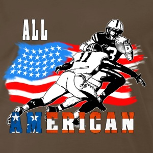 All American Football player 6 white T T-Shirts - Men's Premium T-Shirt