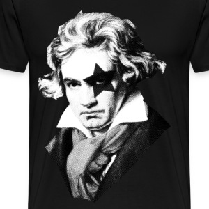 Beethoven rock Kiss Black Metal T-Shirts - Men's Premium T-Shirt