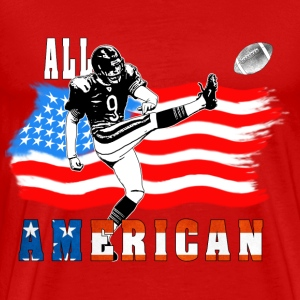 All American Football Field Goal KickerWhite T T-Shirts - Men's Premium T-Shirt