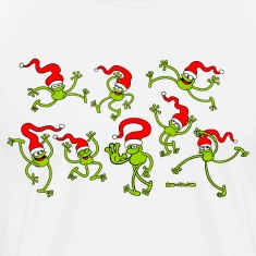 Christmas Frogs, dancing, jumping and celebrating! T-Shirts