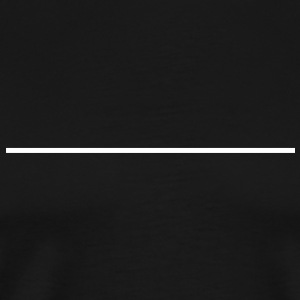 line, underline,outline,cable,mark,stroke, borderband, bar, borderline T-Shirts - Men's Premium T-Shirt