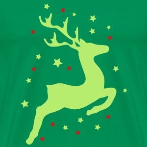 A leaping reindeer T-Shirts - Men's Premium T-Shirt