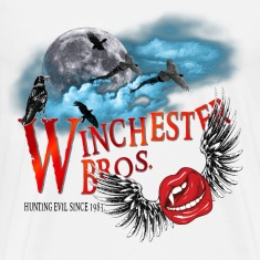 Winchester Bros Hunting Evil Since 1983 Vamps Kiss T-Shirts