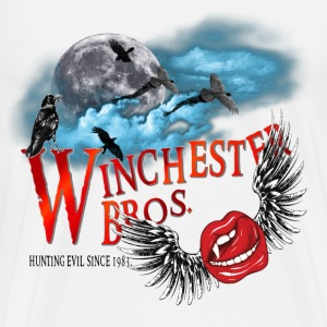 Winchester Bros Hunting Evil Since 1983 Vamps Kiss T-Shirts - Men's Premium T-Shirt