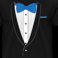 Design ~ Tuxedo T Shirt Classic Blue Tie