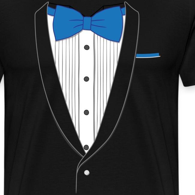 Tuxedo T Shirt Classic Blue Tie