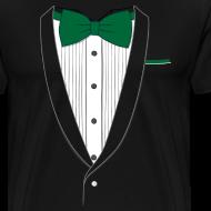 Design ~ Tuxedo T Shirt Classic Green Tie