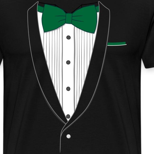 Tuxedo T Shirt Classic Green Tie