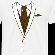 Design ~ Tuxedo T Shirt Cream Long Tie