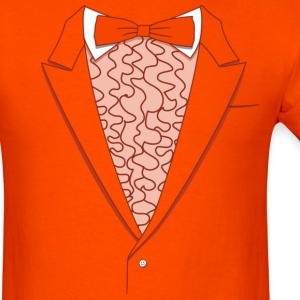 Tuxedo T Shirt Deluxe Orange - Men's T-Shirt