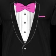 Design ~ Tuxedo T Shirt Classic Pink Tie