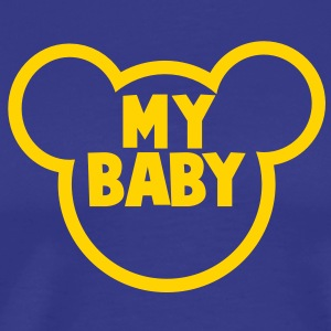 MY BABY in a teddy bear shape T-Shirts - Men's Premium T-Shirt