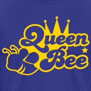 Queen bee ornate with cute little insect and a princess crown T-Shirts - Men's Premium T-Shirt