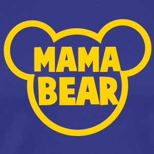 MAMA BEAR in a teddy shape super cute! T-Shirts - Men's Premium T-Shirt