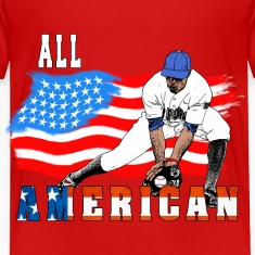 All American BaseBall player Catcher white Toddler Shirts