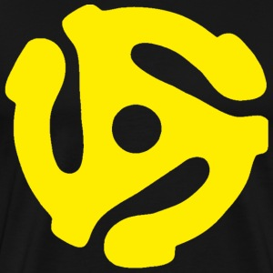 45 Record Adapter - Yellow - Shirt - Men's Premium T-Shirt