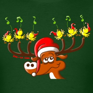 Birds' and Deer's Christmas Concert T-Shirts - Men's T-Shirt