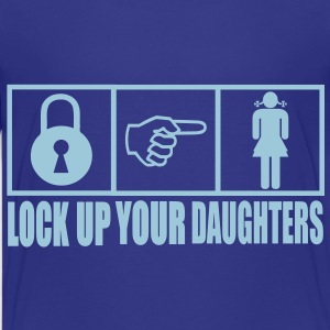 Lock Up Your Daughters Vector Design Kids' Shirts - Kids' Premium T-Shirt