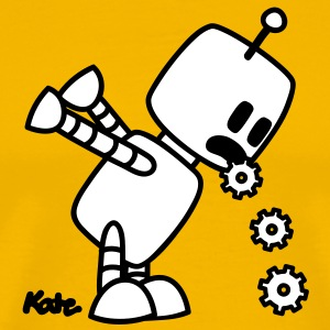 Puking Robot  T-Shirts - Men's Premium T-Shirt
