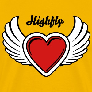 Winged Valentine's Heart 2_3c T-Shirts - Men's Premium T-Shirt