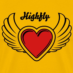 Winged Valentine's Heart 23_2c T-Shirts - Men's Premium T-Shirt