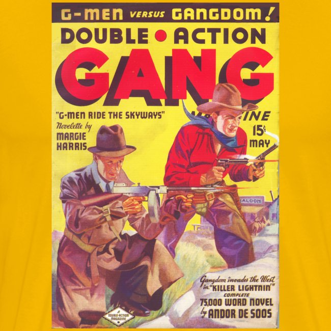 Souble Action Gang Pulp May 1936 1st Issue 3/4X: