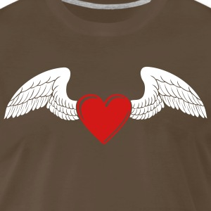 Winged Valentine's Heart 1_2c T-Shirts - Men's Premium T-Shirt