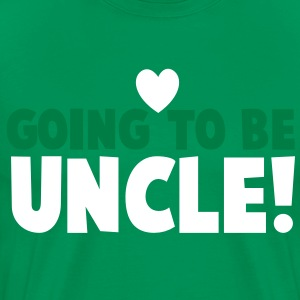 GOING TO BE UNCLE with love heart newborn uncle's shirt T-Shirts - Men's Premium T-Shirt