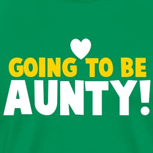 GOING TO BE AUNTY with a love heart T-Shirts - Men's Premium T-Shirt